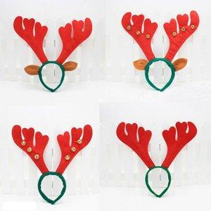 Weihnachtsdekoration Deer Bell Große Geweih Weihnachten Kopf Hoop Schnalle Xmas Party Urlaub Dekor Geschenk LX3445