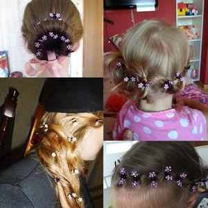 Оптовая 12 шт./лот маленький милый Кристалл цветы металлические волосы когти зажим для волос девушки мода головной убор Oranment аксессуары для волос