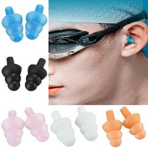 Piscina de silicona tapones en los oídos a prueba de agua del oído de buceo tapones de silicona reutilizable para adultos tapones para los oídos de seguridad de silicona de natación de la piscina eaarplugs