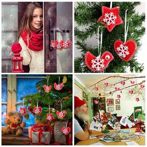 할로윈 크리스마스 연습장은 홈 파티 장식 용품 크리스마스 트리 장식 빨간색과 흰색 크리스마스 트리 장식을 느꼈다