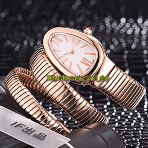 Eternity 8 Couleur Couleur Haute Qualité 103002 Cadre Blanc Swiss Quartz Womens Watch Rose Gold Case Double boucle Bracelet Fashion Lady Montres 05