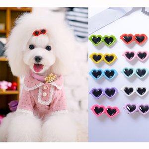 Küçük Yavru Köpekler Kedi YorkieTeddy Pet Saç Dekor DC-513 için Pet Güzel Kalp Güneş Tokalar Pet Dog Yaylar Saç Klipler