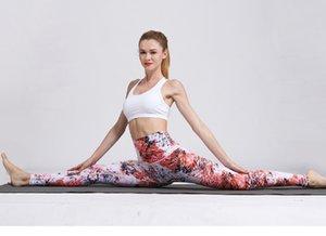Lady yoga spor kadınlar yüksek bel moda rahat yüksek-doğu ince yumuşak dijital baskı hızlı kuru konfor tayt yaz sportwear