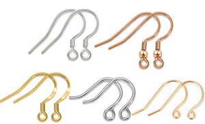 Hot Sterling 925 Silver Earring Sterling Silver Ear Hook Accesorios chapado en oro Sterling Silver Accessories Fish Hook Fit Pendientes D0123