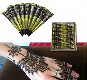 Schwarze natürliche indische Henna Tattoo Paste für Körper Zeichnung schwarz Henna Tattoos Body Art Malerei hohe Qualität 25g