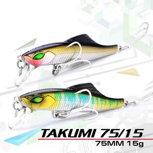 Serie de gama alta Señuelos de pesca Takumi 75 mm / 15 g Cemento Minnow Cebo ABS Plástico Césped de hierba Carpa