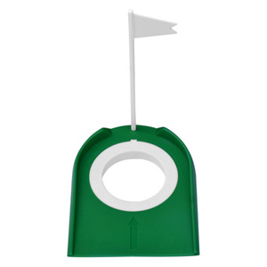 Golf Training Aids Golf Putting Green Regulation Cup Hole Flag Home Backyard Golf Practice Accessories Outdoor Sports