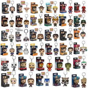 Llavero juego juguete estatua Funko POP Hulk Superhéroe Harley Quinn Harry Potter Goku Spiderman Novel Poder