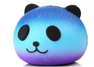 Squishy Galaxy Panda Azul Super Lento Rising Jumbo PU Squishy Squeey Telefone Strap Crianças Brinquedo Divertido Presente Brinquedo Descompressão
