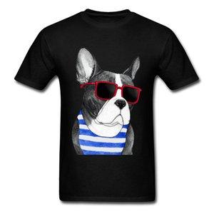 Cute Frenchie Summer Style Men T-shirt Trendy Hip Hop Bulldog Black Guys Street Wear O-neck Short Sleeve T Shirt