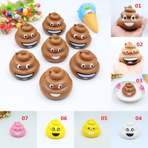 Popular Jumbo Stool Squeeze Poo Squishy Brinquedo Lento Rising Crazy Cell Phone Straps Pão Antistress Perfumado Chave Pendant Charms