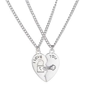 en 's Women's Lover 커플 하트 체인 펜던트 Choker Chain Necklace 무료 배송