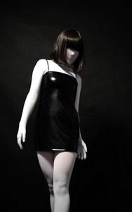(V004) Calzamaglia trasparente in velluto bianco Tute unisex Fetish Zentai