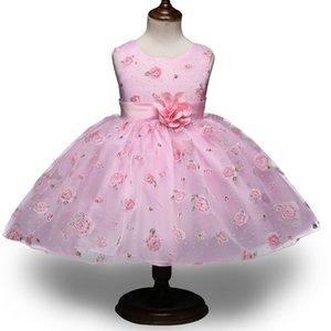 Europäische und amerikanische Kinderkleidung Blumenmädchen Hochzeitskleid Mädchen print Prinzessin Peng Peng Kinder Kleid