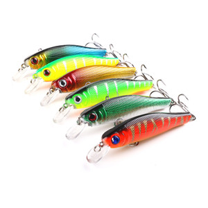 Hengjia Minnow Lures Hard Bait 20pcs artificiali esche da pesca Swimbaits attrezzatura da pesca 6 colori 8.5CM 8.9G 6 # Treble Sharp Hooks