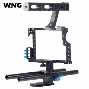 Stabilisateur de cage pour caméra professionnelle Grip DSLR Rig pour Sony Alpha A7S A7 A7R A7RII A7SII pour Panasonic Lumix GH4