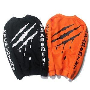 Letter Men Loose Scratch Print Sudaderas delgadas de manga larga Hombre Adolescente Estudiante Hip Hop Traje deportivo Sudaderas con capucha Camisa de fondo Parejas M-2XL