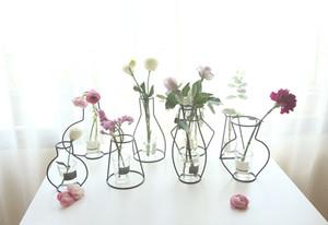 HOT Creative Brief Fer Vase Jardinière Rack Fleurs Séchées Pots Étagère Cadre De Fer Jardinière Décoration de La Maison Accessoires