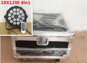 6pcs controllo senza fili 18x12W Con flightcase RGBW DJ Mega Quad Par Profilo Wash Light luminoso della fase del LED RGBW Color Mixing