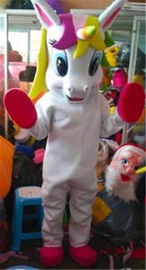 Einhorn Pony Magie Adult Maskottchen Kostüm Pferd Maskottchen Kostüm für Halloween Purim Party Kleidung Kostüm