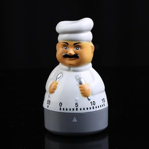 Bonito Dos Desenhos Animados Caras Contagem Regressiva Temporizador Alarme Chef Com Utensílios de Mesa Relógio Forma Lembrete Temporizadores Tempo Convinient Prático 6 3qh ii