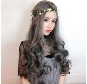Asiática nueva venta directa caliente larga peluca conjunto recto largo ondulado hembra anti genuina fabricantes de sombreros en stock