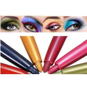 12 قطعة / المجموعة المرأة الجمال مستحضرات التجميل بريق عينيه القلم للماء ملون العين بطانة قلم الشفاه كحل لامع عارية ماكياج عدة