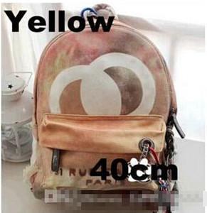 여러 가지 빛깔의 인쇄 캔버스 배낭 가방에 수 놓은 낙서 인쇄 캔버스 배낭 밧줄 가방