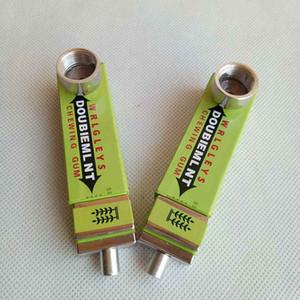 85mm Länge Rauchen Metallrohr grün Schwert Gummi Design Tabak Kräuterhandrohr Klick n vape Pipes Netz Sneak A Kauen vape