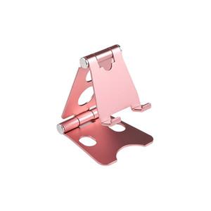 Titular dobrável de alumínio do telefone do tabuleta multi-ângulo ajustável mesa móvel com rotação de 270 graus e almofadas anti-deslizamento