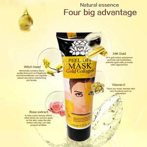 Готов к отправке Peel Off маска для лица Черный Кристалл Золото Collagen Milk Черноголовых Remover маска для лица Уход за кожей