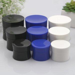 Siyah / Beyaz / Mavi Packaging 15 30 50g Boş Sıkı Bel Şekli Konteyner ile Liner Doldurulabilir Seyahat PP Yüz Kremi Kavanoz Kozmetik Plastik Kutu