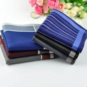 Handkerchief 100 43 10pcs * 43cm% algodón Freeshipping Hombres Hankies Pocket 's Handkerchiefs Pocket Hombres Mujeres BRSXR