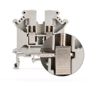 Morsetto passante 10PCS Tipo combinato 24-8 AWG 41 A 800 V UK-6N Connettore grigio filo grigio
