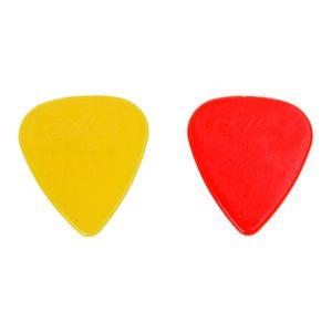 2 PCS of (100pcs Plastic Guitar Picks Plectrums 0.71mm - Random Color)