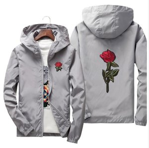 Yeni desinger pembe siyah beyaz CEKET Erkekler için Rüzgarlık Ceketler KANYE WEST Sezon CEKET MARKA spor ceket