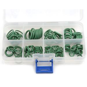 Yeşil 110pcs ve 8 Boyutları HNBR Araba Van Klima Pul O-Ring Conta Seti Kauçuk O Ring Conta Seti Gzhengtong