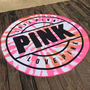 Lannidaa Green Pink Brand Rundes Strandtuch Für Erwachsene Große Sport Handtücher Gedruckt 150 CM serviette de plage Mikrofaser Handtuch