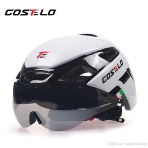 2018 Costelo Capacete de Ciclismo Luz MTB Capacete de Bicicleta de Estrada Bicicleta Capacete Velocidade Airo RS Ciclismo Óculos de Segurança Das Mulheres Dos Homens 230g