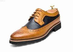 Men Dress Summer Shoes Microfiber Leather Footwear Breathable Casual Brogue Formal Wedding Business Leather Shoes 1nx59
