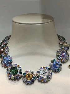 Europe and the United States classic super flash high quality elegance woman banquet wedding wild necklace