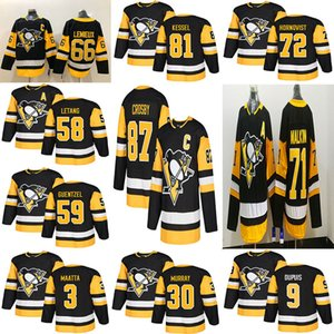 Maillot des Penguins de Pittsburgh, troisième, 87, Sidney Crosby, 71 Evgeni Malkin, Phil Kessel, Kris Letang, Hagelin, Lemieux, Murray Maatta, Guentzel, hockey.