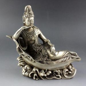 Китайский Серебряный буддизм Гуаньинь богиня Квань-инь статуя Будды