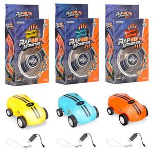 Mini alta velocità Laser Light Cars Spinner Rotazioni da 360 gradi Divertenti luci freddi Molti tipi di trucchi USB Ricarica auto giocattoli CCA10467 50 pezzi