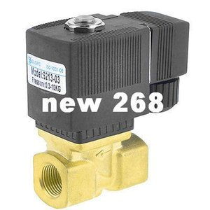 """Freeshipping 3 8"""" Port 2 Position 2 Way Water Air Oil Electric Solenoid Valve AC 220V"""