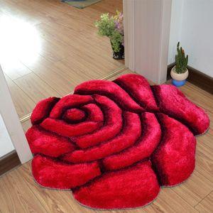 3D Impresso Sólida Flor Forma Tapetes Do Banheiro Tapete 70 * 70 cm Porta Almofada Tapete Para Decoração Do Quarto Do Casamento Tapetes Tapetes Badmat