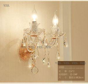 Crystal wall Lamps LivingRoom beside light for indoorroom fantastic E14 single double lights lamp