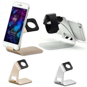 Hot 2 in 1 supporto TS026 Alluminio metallo Docking Station Dock Staffa Supporto supporto per iPhone 7 8 per iWatch Mini tablet Supporto PC S8
