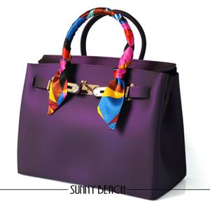 مشمس الشاطئ عالية الجودة الفاخرة حقائب النساء حقائب مصمم السيدات المرأة حقيبة 2017 جديد وصول الشهيرة pvc سيليكون هلام حقائب