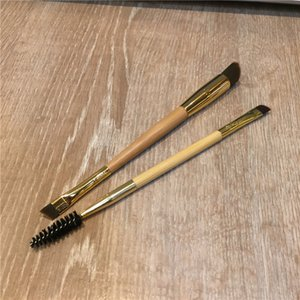 TT-Series Bamboo Frame work Augenbrauenbürste mit zwei Enden - Synthetisches Haar für Pudercreme-Produkte - Beauty-Make-up-Pinsel Blender
